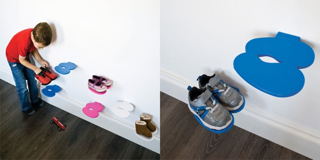 Footprint Childrens Shoe Rack