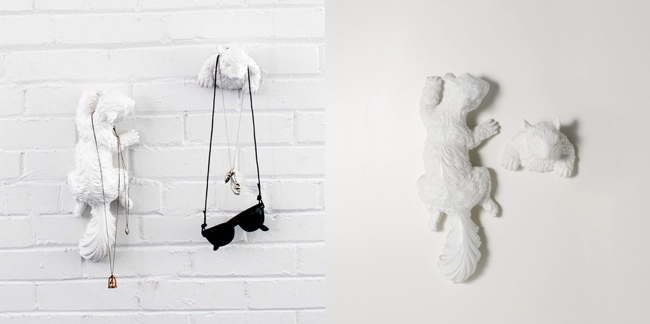 Hide and Seek Squirrel Wall Hooks