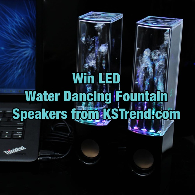 Win LED Water Dancing Fountain Speakers From KSTrend.com