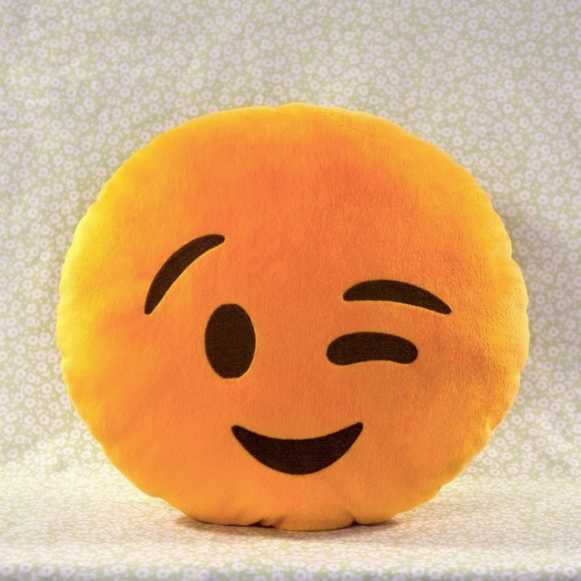 Wink_Emoji Pillow