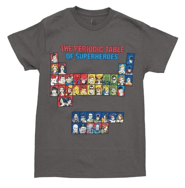 DC Comics Periodic Table Of Super Heroes Men's T Shirt