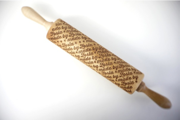 Personalized Pattern Rolling Pin