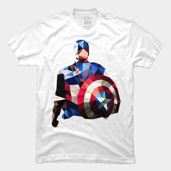 Polygon Heroes - Captain America