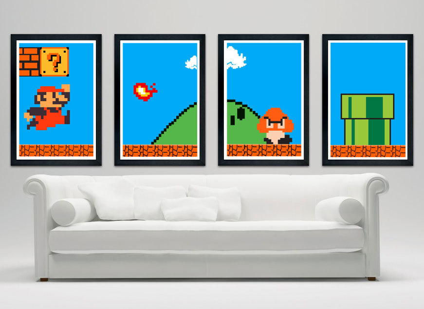 Super Mario Bros Poster Set