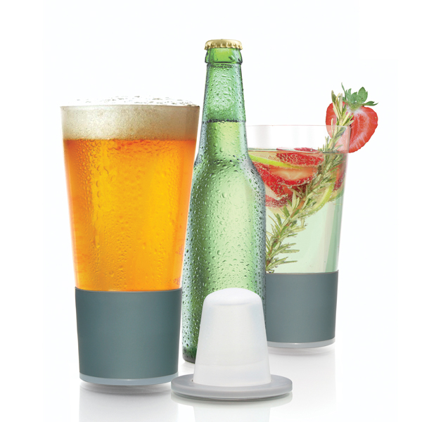 Dimple Beer Self chilling Pint Glassware