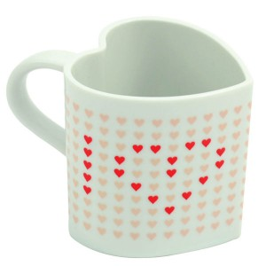 Heart Shaped Heat Changing Mug