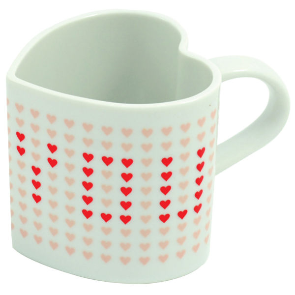 Heart Shaped Heat Changing Mug_