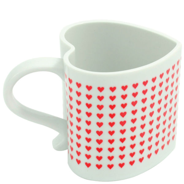 Heart Shaped Heat Changing Mug__