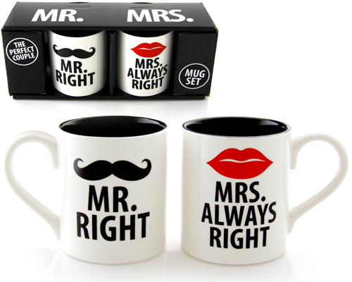 MR. RIGHT & MRS. ALWAYS RIGHT MUG SET