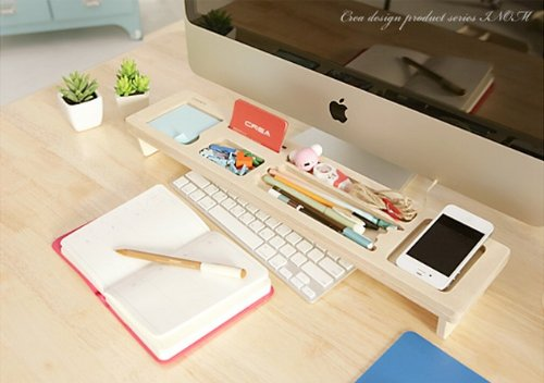 Natural Wood Creative Multipurpose Desktop Organizer