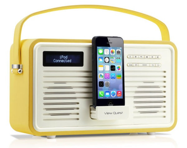 View Quest Colourgen Retro Radio and Dock