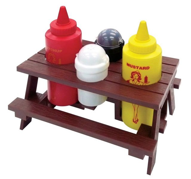 BBQ Pincic Table Condiments