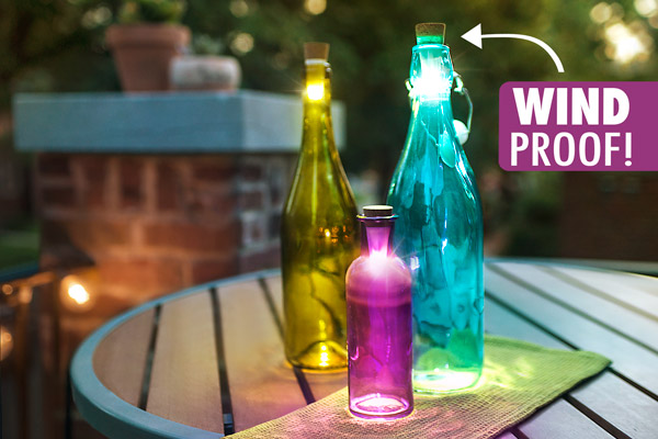Rechargeable Bottle Light: Turn Any Bottle Into a Lamp : HolyCool.net