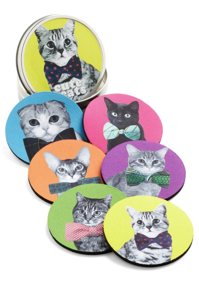 Housecat Party Coaster Set