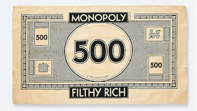 Monopoly Money Tea Towels