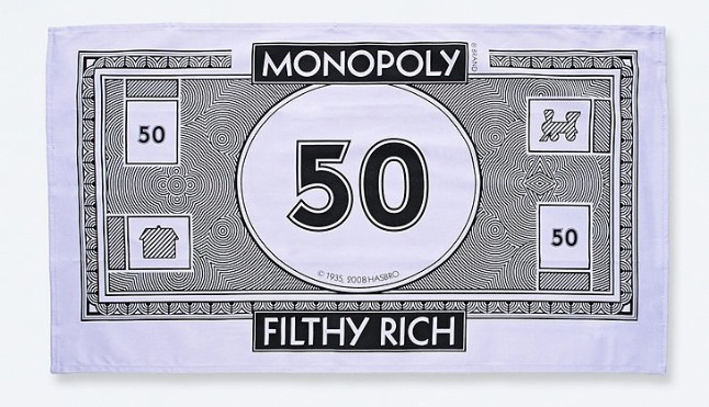 Monopoly Money Tea Towels_
