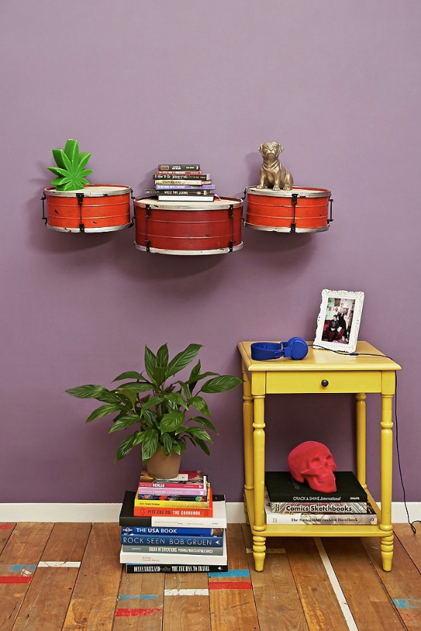 Snare Drum Wall Shelf_
