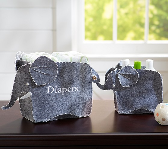 Elephant Changing Table Storage Set