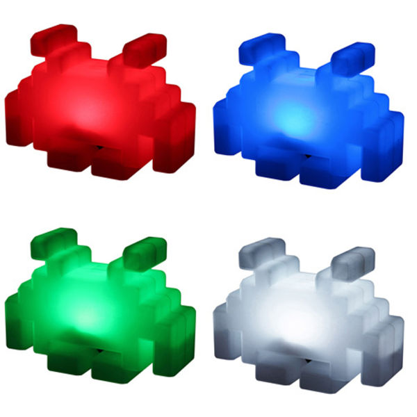 Space Invaders Colour Changing Lamp