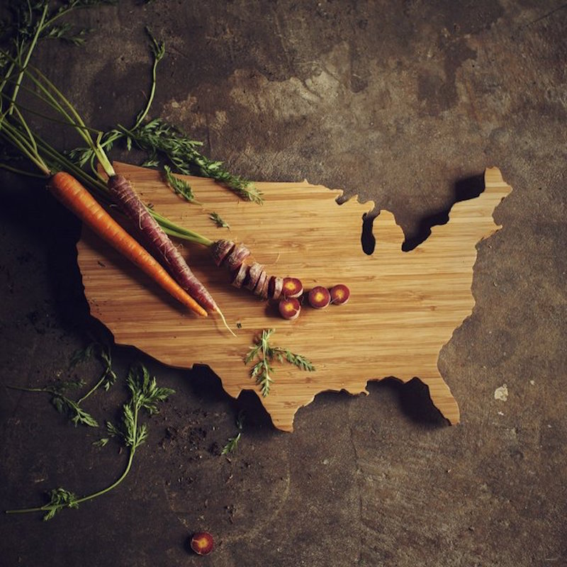 USA-Shaped-Cutting-Board