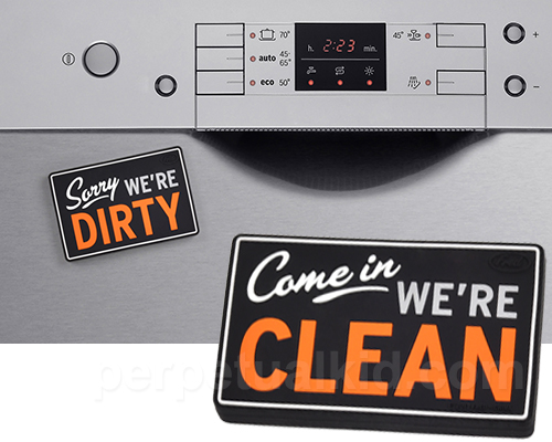 FLIPSIDE REVERSIBLE DISHWASHER SIGN