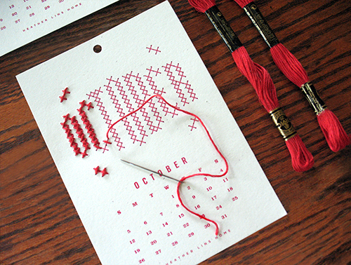 2015 Year in Stitches Calendar Kit