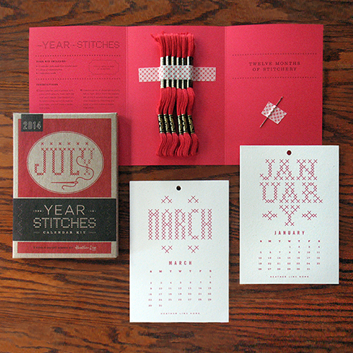 2015 Year in Stitches Calendar Kit_