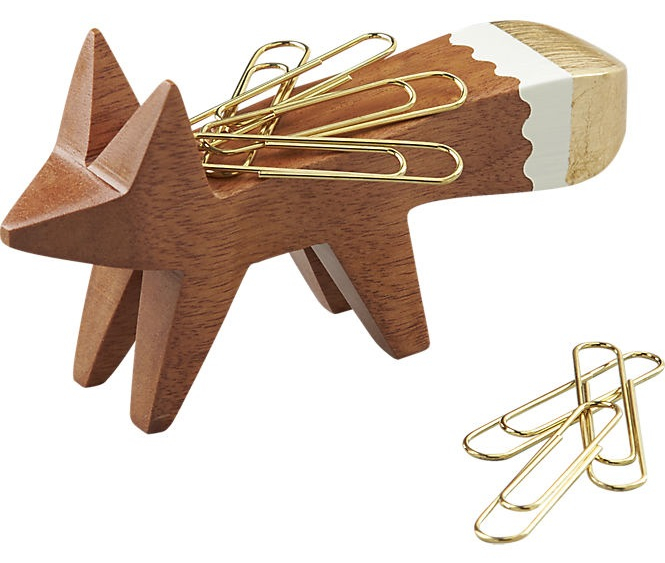Gold Tip Fox Paper Clip Holder