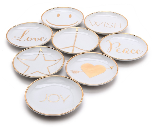 Peace & Love Mini Appetizer Plate Set