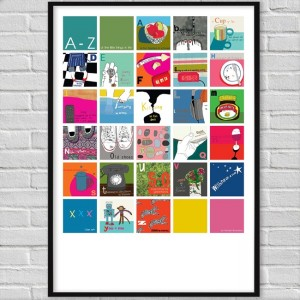 A-Z of the little things in life print