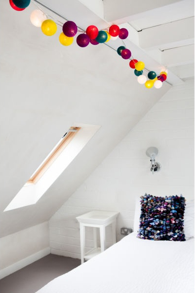 Cable & Cotton String Light 35 Balls - Rainbow Drops