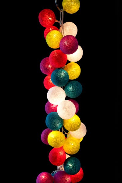 Cable & Cotton String Light 35 Balls - Rainbow Drops_