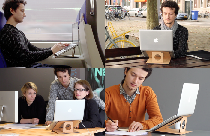 FLIO - ultra slim & portable wooden laptop stand