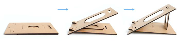 FLIO - ultra slim & portable wooden laptop stand_