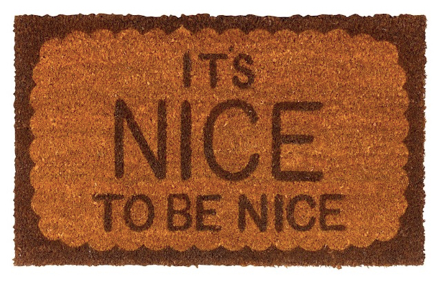 Nice to Be Nice Doormat