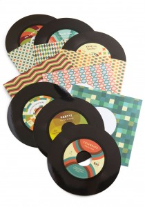 Vinyl Record Greeting Card Set