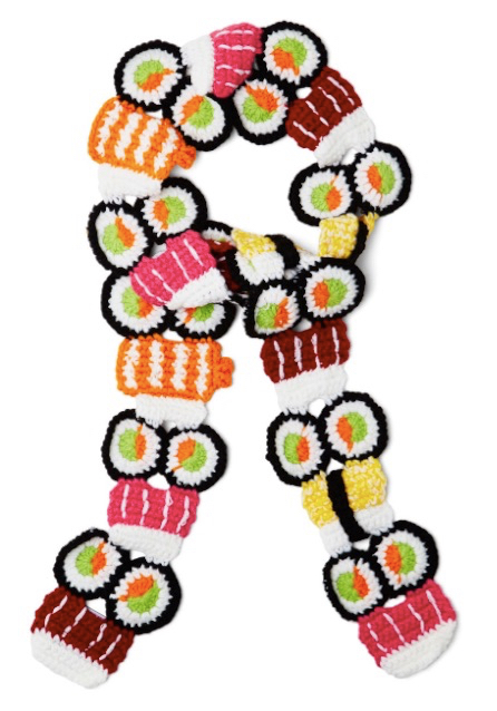 All the Sushi Details Scarf