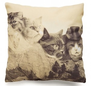 Meow-nt Rushmore Pillow