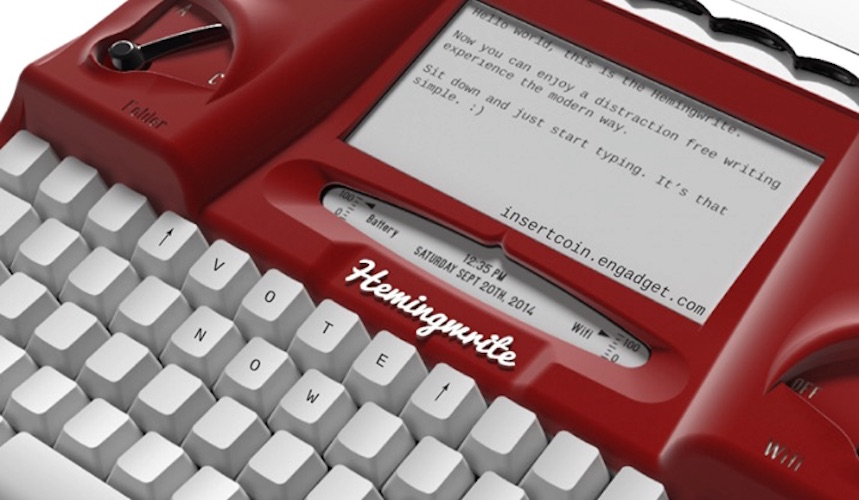 Hemingwrite typewriter on Kickstarter will ONLY let you write