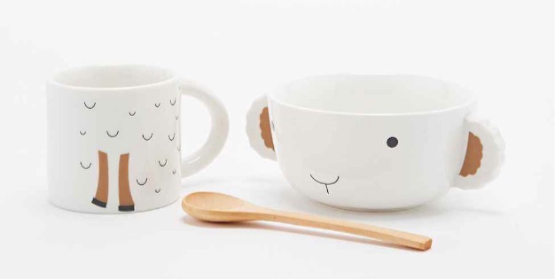 Lamb Stackable Bowl and Mug Set_d
