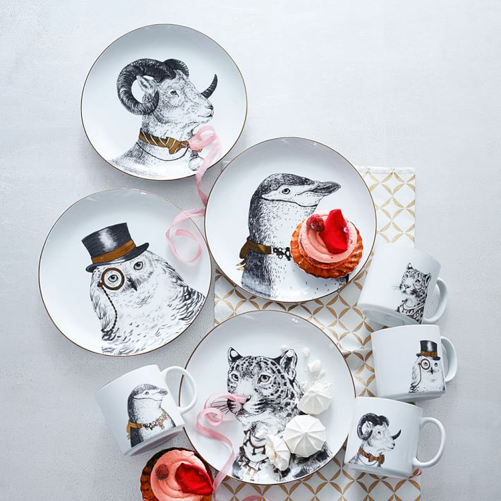 Glided Dapper Animal Plates
