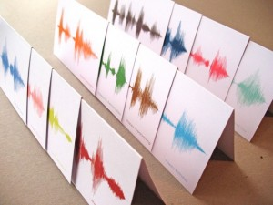 Sound Wave Greeting Cards