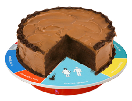 Wheel of Portion Cake Platter