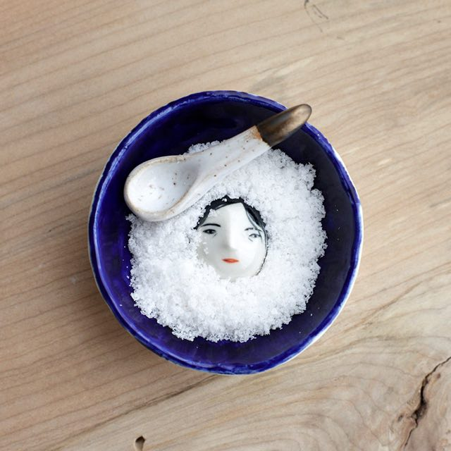 Buried under the snow - salt dish set