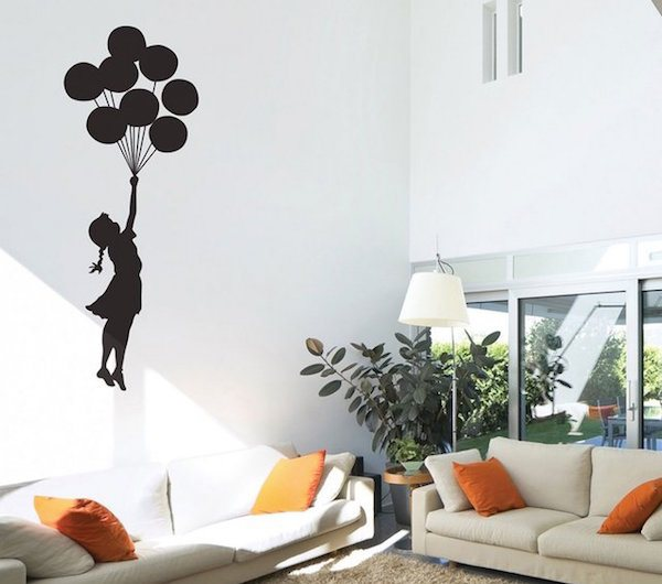 Best Floating Balloon Wall Sticker u Displaying the Exquisite Banksy Art