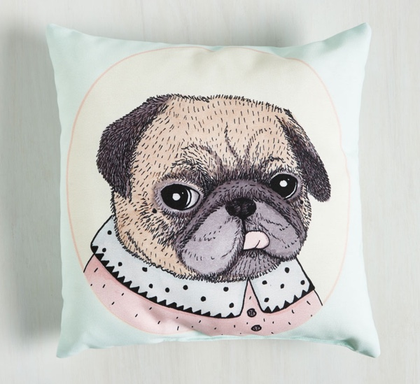 Reflection Pillow Pug