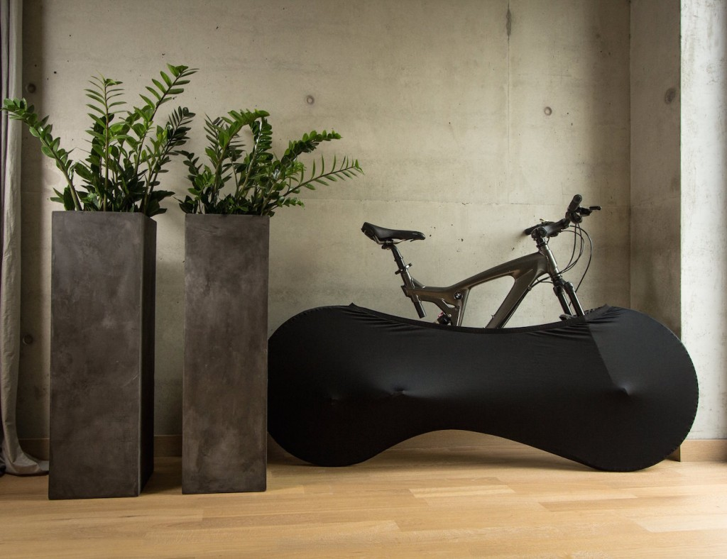 Black Indoor Bicycle Cover by Velo Sock