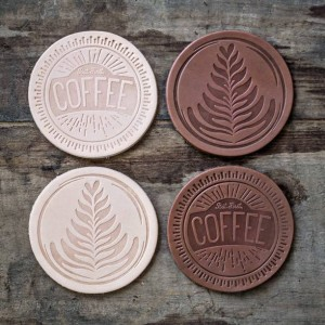 Coffee Inspired Leather Coasters