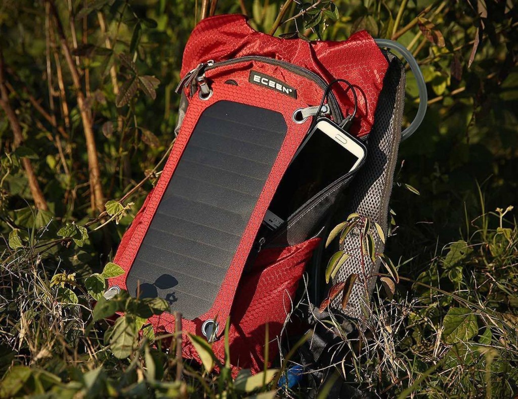 ECEEN Solar Charger Backpack With 7 Watts Solar Panel
