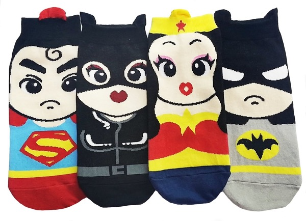 JJMax Women's Superheroes and Villains Cute Cartoon Hero Socks Set